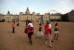 21 April 2011. London, England..Horse Guards Parade, part of the Royal wedding route where the procession will pass through en route to Buckingham Palace in the run up to Catherine Middleton's marriage to Prince William..Photo; Charlie Varley.
