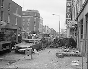 The clear-up begins in Talbot Street in the aftermath of the bomb. The attacks killed 33 civilians - 26 in Dublin and 7 in Monaghan - and wounded almost 300, the highest number of casualties in any one day during the Troubles.<br /> 17/05/1974