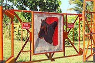 Farm gate in Bayamo, Granma, Cuba.