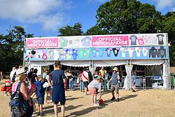 Latitude Festival, Henham Park, Suffolk, UK July 2018. Merchandise stall