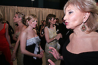 28 April 2006:  Barbara Walters of the VIEW walks by Cady McClain in the Exclusive behind the scenes photos of celebrity television stars in the STAR greenroom at the 33rd Annual Daytime Emmy Awards at the Kodak Theatre at Hollywood and Highland, CA. Contact photographer for usage availability.