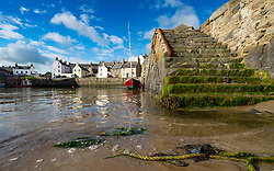 View of historic harbour at Portsoy in Aberdeenshire on the moray firth, Scotland, UK