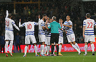 QPR's Bobby Zamora appeals to referee Mike Dean after they have a goal disallowed<br /> <br /> - Barclays Premier League - Queens Park Rangers vs Manchester City- Loftus Road - London - England - 8th November 2014  - Picture David Klein/Sportimage