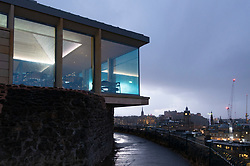 Edinburgh, Scotland, UK. 20 November, 2018. The historic City Observatory on Calton Hill will reopen as The Collective, an arts development organisation and will feature the restored City Observatory, City Dome, and a purpose-built exhibition space as well as The Lookout (pictured) , a new restaurant. It opens to the public on 24 November, 2018. ++ Editorial Use Only ++