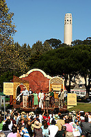 San Francisco Mime Troupe at Washington Square, North Beach, San Francisco - Mention North Beach and what comes to mind is a mix of arts, crafts, poetry and jazz.  North Beach has storied history involving known writers and musicians, movie sets and nightclubs. Added to this are several historical landmarks and a strong commitment to keeping local businesses independently owned and operated. North Beach is a neighborhood in the northeast of San Francisco adjacent to Chinatown and Fisherman's Wharf. It is the Little Italy of the city.