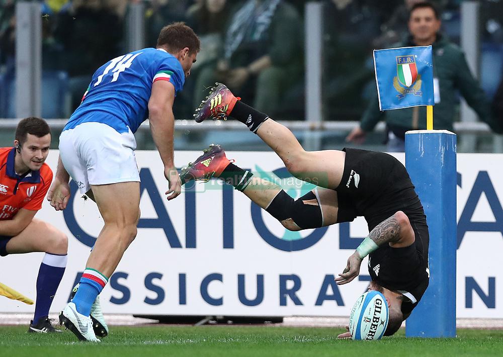 November 24, 2018 - Rome, Italy - Italy v New Zealand All Blacks - Rugby Cattolica Test Match.New Zealands TJ Perenara at Olimpico Stadium in Rome, Italy on November 24, 2018. (Credit Image: © Matteo Ciambelli/NurPhoto via ZUMA Press)