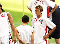 Photo: Chris Ratcliffe.<br /> England Training Session. FIFA World Cup 2006. 24/06/2006.<br /> David Beckham in training.