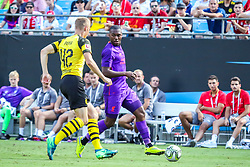 July 22, 2018 - Charlotte, North Carolina, USA - Game action during an International Champions Cup match at Bank of America Stadium in Charlotte, NC.  Borussia Dortmund of the German Bundesliga beat Liverpool of the English Premier League 3 to 1. (Credit Image: © Jason Walle via ZUMA Wire)