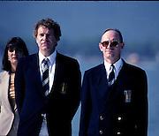 Barcelona Olympics 1992 - Lake Banyoles, SPAIN,  Left Dennis OSWALD and John BOULTBEE, Photo: Peter Spurrier.       {Mandatory Credit: © Peter Spurrier/Intersport Images].