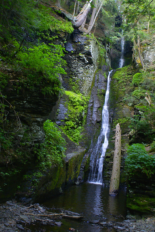 Pocono Mountains, Silver Thread Waterfalls, Delaware Gap National Recreation Area, PA