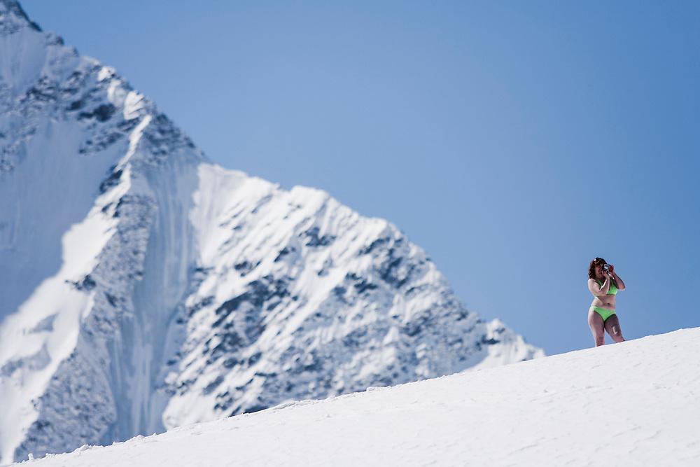Tourism, Mount Elbrus, Russia.