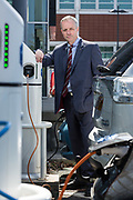 Editorial photograph of Electric car station in Edinburgh