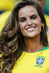 Brazilian model Izabel Goulart during the 2018 FIFA World Cup Russia group E match between Serbia and Brazil at the Otkrytiye Arena on June 27, 2018 in Moscow, Russia