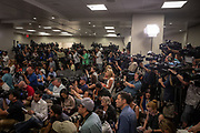 Members of the media pack a room at Orlando Regional Medical Center as trauma surgeons and a survivor speak publicly for the first time about the aftermath of the mass shooting that killed 49 and injured 53 others at Pulse nightclub in Orlando, Florida, U.S.