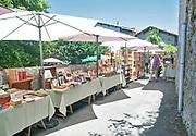 France, Pyrenees, Saint-Bertrand de Comminges. A rare book market