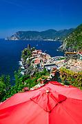 Vernazza from the Sentiero Azzurro (Blue Trail), Cinque Terre, Liguria, Italy
