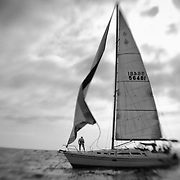 Loose Sail - Newport Beach, CA - Lensbaby - Black & White
