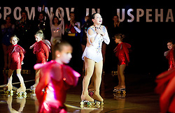 Lucija Mlinaric during special artistic roller skating event when Lucija Mlinaric of Slovenia, World and European Champion ended her successful sports career, on November 7, 2015 in Rence, Slovenia. Photo by Vid Ponikvar / Sportida