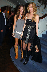 Left to right, AMANDA SHEPPARD and the HON.SOPHIA HESKETH at jewellers Tiffany's Christmas party held at The Savile Club, 69 Brook Street, London on 14th December 2004.<br /><br />NON EXCLUSIVE - WORLD RIGHTS