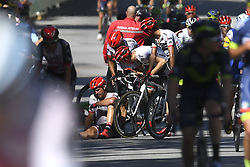 July 4, 2017 - Mondorf Les Bains / Vittel, Luxembourg / France - VITTEL, FRANCE - JULY 4 : Crash DEGENKOLB John (GER) Rider of Trek - Segafredo during stage 4 of the 104th edition of the 2017 Tour de France cycling race, a stage of 207.5 kms between Mondorf-Les-Bains and Vittel on July 04, 2017 in Vittel, France, 4/07/2017 (Credit Image: © Panoramic via ZUMA Press)