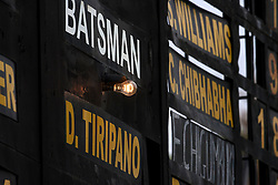Zimbabwe had  to depend on the lower order batsman such as Donald Tiripano after top order collapse during a ODI between Zimbabwe and Sri Lanka at the Harare Sports Club, West Indies is the other team in the tri-series trophy, 14 November 2016.