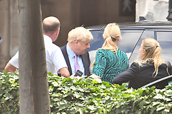 © Licensed to London News Pictures. 20/06/2019. London, UK. BORIS JOHNSON MP is seen arriving at the Houses of Parliament the morning after surviving the latest round of voting in the conservative leadership race. . Further candidates are expected to drop out of the race to be the next Prime Minister over the next two days, leaving two, in a series of votes held by Conservative MPs at Parliament. Photo credit: Ben Cawthra/LNP