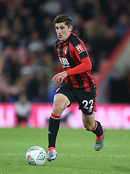 """AFC Bournemouth Emerson Hyndman in action during the Carabao Cup, third round match at the Vitality Stadium, Bournemouth. PRESS ASSOCIATION Photo. Picture date: Tuesday September 19, 2017. See PA story SOCCER Bournemouth. Photo credit should read: Steven Paston/PA Wire. RESTRICTIONS: EDITORIAL USE ONLY No use with unauthorised audio, video, data, fixture lists, club/league logos or """"live"""" services. Online in-match use limited to 75 images, no video emulation. No use in betting, games or single club/league/player publications."""