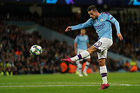Manchester City's Bernardo Silva shoots at goal<br /> <br /> Football - 2019 / 2020 UEFA Champions League - Champs Lge Grp C: Man City-D Zagreb<br /> <br /> , at Etihad Stadium<br /> <br /> Colorsport / Terry Donnelly