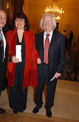 Centre & right artist KEN HOWARD RA and his wife DORA at a private view of the new exhibition 'Matisse, his Art and his Textiles' at the Royal Academy of Art, Burlington House, Piccadilly, London on 1st March 2005.<br />