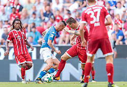 02.08.2017, Allianz Arena, Muenchen, GER, Audi Cup, FC Bayern Muenchen vs SSC Neapel, Spiel um Platz 3, im Bild Marek Hamsik (SSC Napoli), Niklas Suele (FC Bayern Muenchen) // during the Audi Cup 3rd place Match between FC Bayern Munich  and SSC Napoli at the Allianz Arena, Munich, Germany on 2017/08/02. EXPA Pictures © 2017, PhotoCredit: EXPA/ JFK