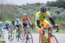 Christine Majerus's Boels Dolmans team have plenty of options up the road - 2016 Strade Bianche - Elite Women, a 121km road race from Siena to Piazza del Campo on March 5, 2016 in Tuscany, Italy.