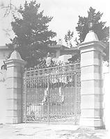 1925 Front entrance gate to 1847 Camino Palmero