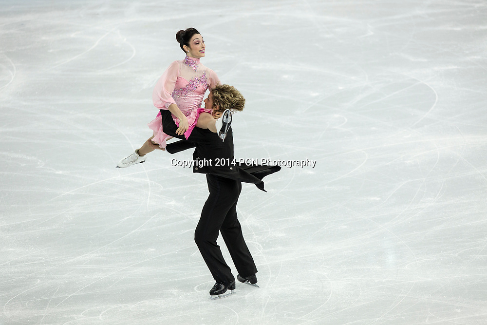 Meryl Davis and Charlie White (USA) performing in the  Ice Dance short program at the Olympic Winter Games, Sochi, Russia 2014