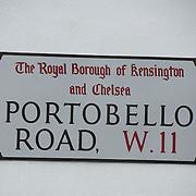Portobello Road sign, London