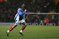 Photo: Lee Earle.<br /> Portsmouth v Manchester City. The Barclays Premiership. 10/02/2007. Pedro Mendes celebrates after scoring the opening goal for Portsmouth.