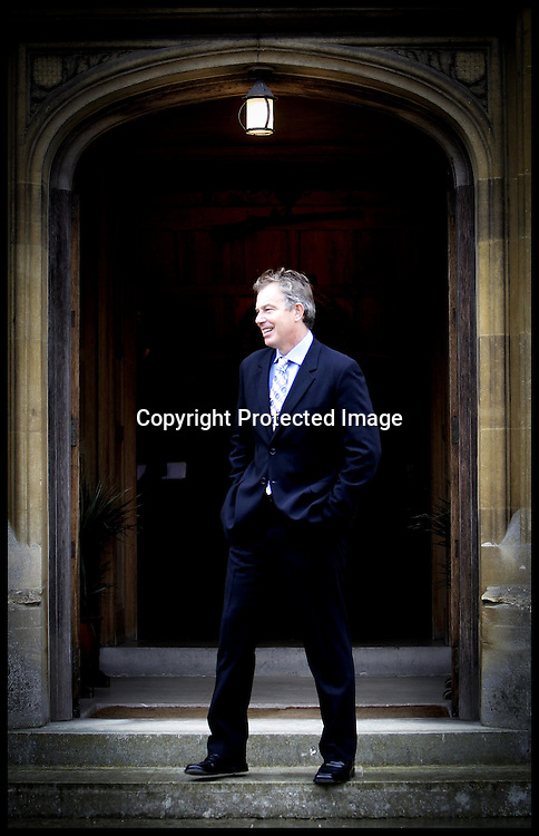 Prime Minister Tony Blair waits for  Irish Premier Bertie Ahern for talks on how to push forward the Northern Ireland peace process,at  CHEQUERS:.PRESS ASSOCIATION Photo. Picture date:Friday 15th September  , 2006. Photo credit should read: Andrew Parsons/PA. .POOL