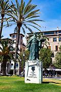 Statue of Ramon Llull, Palma de Mallorca, Balearic Islands, Spain