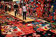 Belo Horizonte_MG, Brasil. ..Exposicao de tapetes do projeto Fred no Palacio das Artes...The carpet exhibit of Fred project in the Palacio das Artes...Foto: LEO DRUMOND / NITRO