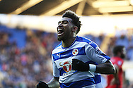 Danny Williams of Reading celebrates as he scores his teams 1st goal. Skybet football league championship match, Reading  v Blackburn Rovers at The Madejski Stadium  in Reading, Berkshire on Sunday 20th December 2015.<br /> pic by John Patrick Fletcher, Andrew Orchard sports photography.