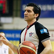 Referee's       during their Turkish Basketball league Play Off first leg match Efes Pilsen between Erdemir at the Ayhan Sahenk Arena in Istanbul Turkey on Thursday 29 April 2010. Photo by Aykut AKICI/TURKPIX