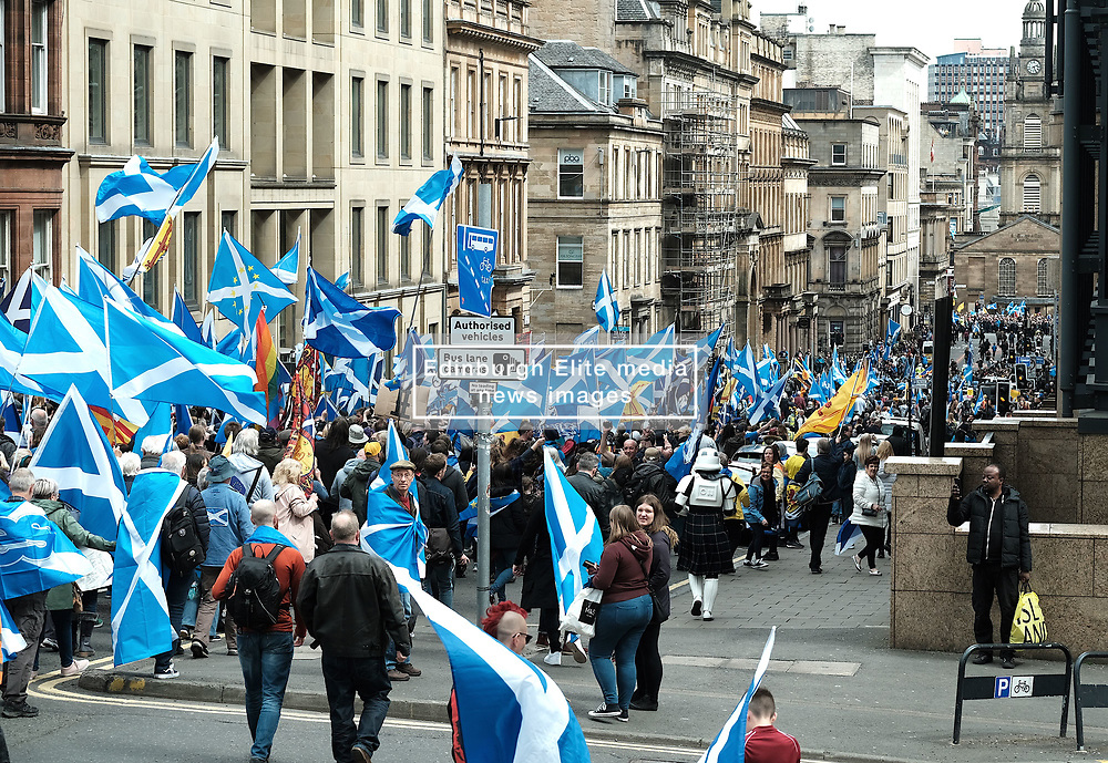 All Under One Banner Independence March, Glasgow, Saturday 4th May 2019<br /> <br /> Pictured: Marchers<br /> <br /> Alex Todd   Edinburgh Elite media