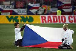 Flag of Czech Republic  at the 8th day qualification game of 2010 FIFA WORLD CUP SOUTH AFRICA in Group 3 between Slovenia and Czech Republic at Stadion Ljudski vrt, on March 28, 2008, in Maribor, Slovenia. Slovenia vs Czech Republic 0 : 0. (Photo by Vid Ponikvar / Sportida)