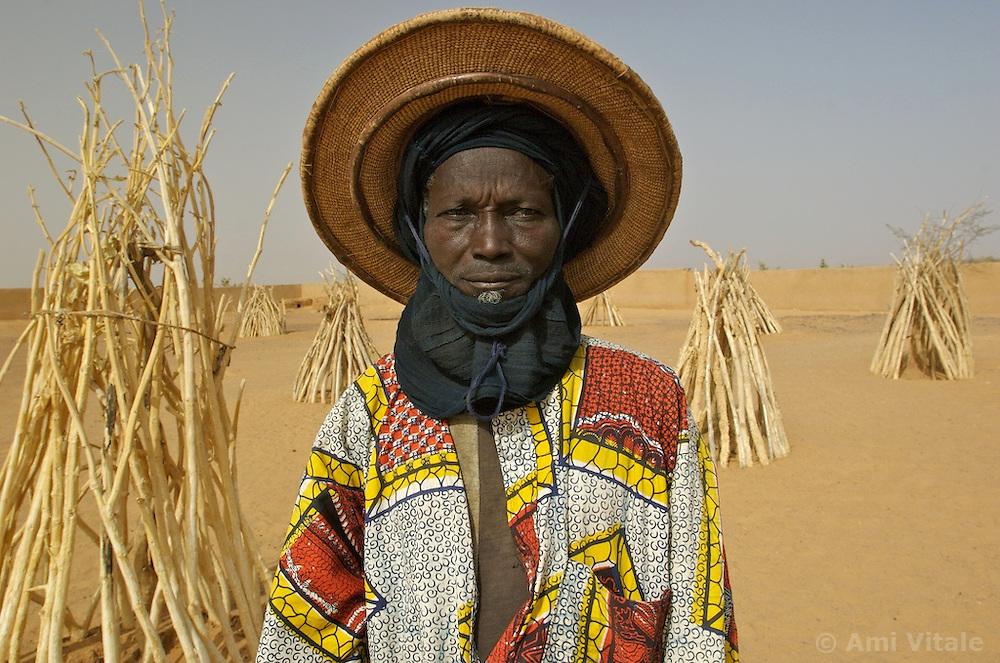 Litne poses outside the school in Intadeynen,  March 14, 2007 in Mali.