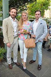 Left to right, ALEXANDER & ALEXANDRA MAVROS and PATRICK MAVROS JNR at a party to celebrate 'A Year In The Garden' celebrating the first year of The Ivy Chelsea Garden, 197 King's Road, London on 16th May 2016.