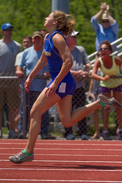 Kate Hall, girls 100 meters, Maine State Track & FIeld Meet - Class B