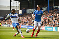 during the EFL Sky Bet League 1 match between Portsmouth and Rochdale at Fratton Park, Portsmouth, England on 13 April 2019.