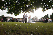 Tony and Kristin were married at Silver Lake Park, in Fenton, Michigan and followed by celebrating at the Captain's Club at Woodfield, in Grand Blanc.