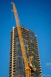 USA, Washington, Bellevue. New skyscraper construction downtown.