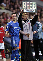 Photo: Olly Greenwood.<br />Charlton v Chelsea. The Barclays Premiership. 03/02/2007. Chelsea's John Terry makes his return from injury