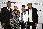 l to r: Gregory Gates, Moikgansti Kgama, Malinda Willams and D-Nice at The ImageNation celebration for the 20th Anniversary of ' Do the Right Thing' held Lincoln Center Walter Reade Theater on February 26, 2009 in New York City. ..Founded in 1997 by Moikgantsi Kgama, who shares executive duties with her husband, Event Producer Gregory Gates, ImageNation distinguishes itself by screening works that highlight and empower people from the African Diaspora.